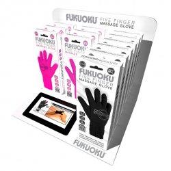 Fukuoku - Zestaw sklepowy, Rękawiczki do masażu - Five Finger Display