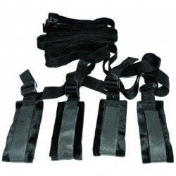 Zestaw do bondage na łóżko - S&M Bed Bondage Restraint Kit