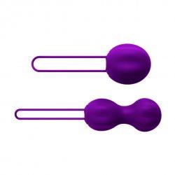 Nomi Tang - Kulki do ćwiczenia mięśni Kegla - IntiMate Kegel Set Purple
