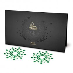 Nakładki na sutki - Bijoux Indiscrets Emerald Szmaragd