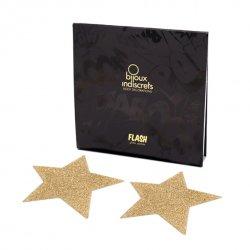 Naklejki na sutki - Bijoux Indiscrets Flash Star Gold Złota Gwiazda