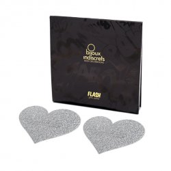 Naklejki na sutki - Bijoux Indiscrets Flash Heart Silver Srebrne Serce