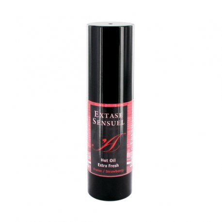 Olejek stymulujący rozgrzewający - Extase Sensuel Hot Oil Extra Fresh Strawberry