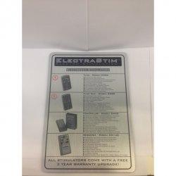 Znak z opisem - ElectraStim Product Discription Sign