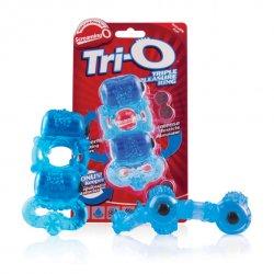 Pierścień erekcyjny - The Screaming O The TriO Blue