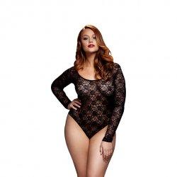 Body - Baci Black Lacy Bodysuit Back Cutout Queen Size