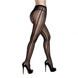 Rajstopy - Baci Symmetrical Jacquard Pantyhose One Size