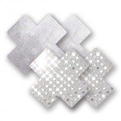 Naklejki na sutki - Nippies Solid Studio Silver Cross