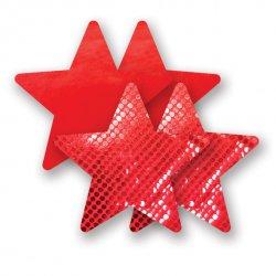 Naklejki na sutki - Nippies Solid Red Star