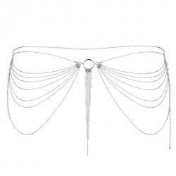Pasek łańcuszek - Bijoux Indiscrets Magnifique Waist Jewelry Silver