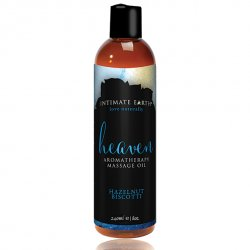 Olejek do masażu - Intimate Earth Massage Oil Heaven Hazelnut Biscotti 240 ml
