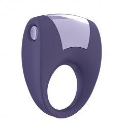 Pierścień erekcyjny wibrujący - Ovo B8 Vibrating Ring Lilac