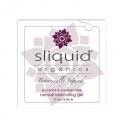 Tester SASZETKA lubrykant - Sliquid Organics Natural Gel Pillow 5 ml