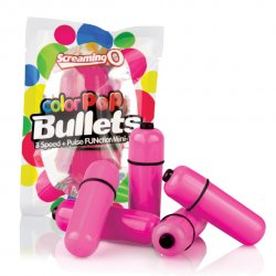 Mini wibrator - The Screaming O Color Pop Bullets Pink