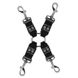 Zestaw do krępowania - Sportsheets Edge Leather 4 Point Hog Tie
