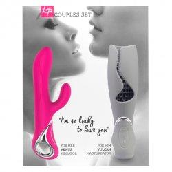 Wirbator i masturbator - LoversPremium Venus & Vulcan Couples Set Pink & Grey