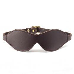 Opaska na oczy - Coco de Mer Leather Blindfold Brown