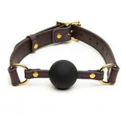 Knebel - Coco de Mer Leather Ball Gag Brown