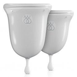 Kubki menstruacyjne - Jimmyjane Intimate Care Menstrual Cups Clear