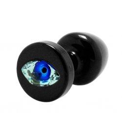 Korek analny ozdobny - Diogol Anni R Eye Black Crystal Black 30 mm