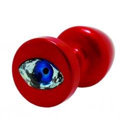 Korek analny ozdobny - Diogol Anni R Eye Red Crystal Red 30 mm